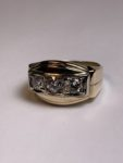 Custom Made Three Diamond Ring for Father's Day