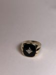 Black Onyx Ring for Father's Day