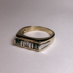 Custom Tourmaline and Diamond Ring