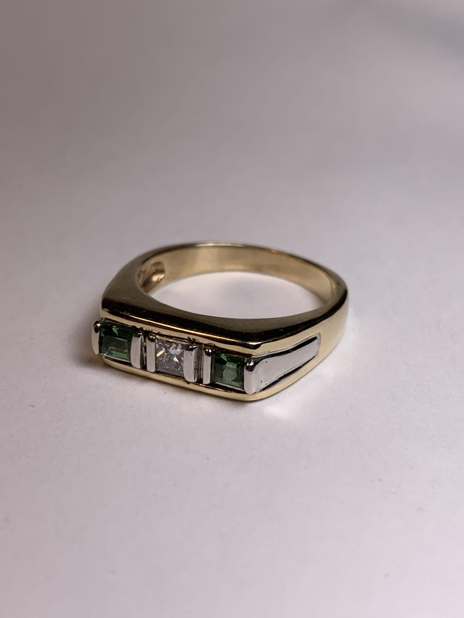 Custom Tourmaline and Diamond Ring