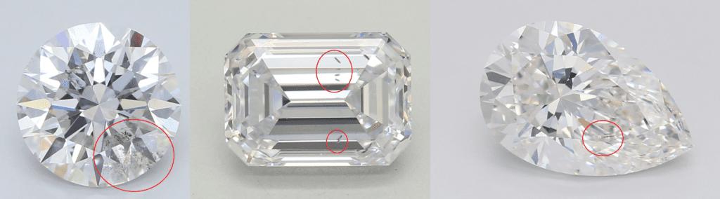 lab diamond inclusions