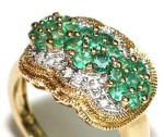 diamond and emerald ring