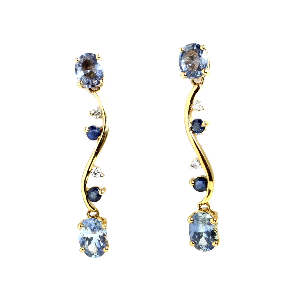 Sapphire earrings for September babies.